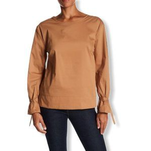 Melloday Long Sleeve Cinched Cuff Blouse